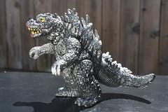 Attacking Godzilla (Popy 1978) (Donald Deveau) Tags: godzilla popy toys toyphotography vintagetoy toho monster japanesetoy japanesemonster kaiju vinyl actionfigure