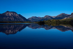 If you like blue this may be for you (Robert Ron Grove 2) Tags: blue water reflections canada mountains lake waterton robertgrove