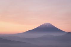 Beautiful Morning (Yuga Kurita) Tags: fuji fujisan fujiyama mt mount dawn morning snowcapped color orange distant remote mountain range peak yamanashi kushigata