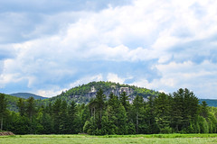 North Conway, New Hampshire (sheldonannphotography) Tags: north conway new hampshire mount washington mountains sky clouds rock cliff trees evergreen green