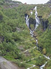 zigzags and waterfalls (neil.bulman) Tags: norway cruise scandanavia road thomson landofthemidnightsun flam hairpins waterfall thomsoncelebration flåm sognogfjordane no