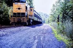 Railfan Trip, Jim Thorpe, Pennsylvania (2 of 3) (gg1electrice60) Tags: jimthorpe townofjimthorpe pennsylvania penn pa jimthorpepa boroughofjimthorpe carboncounty countyseat railfanexcursion bluemountainreadingrr railfanexcursiononbluemountainreading railroad readingandnorthernrailroad readingnorthernrr independencedaytrip july4th julyfourth us209 route209 usroute209 rte209 railroadtracks track milemarker jimthorpestation railroadstation railroaddepot diesel diesellocomotive engine coaches passengers people tenders generalelectric ge u23b uboat readingnorthern2398 rnnumber2398 readingandnorthernno2398 readingandnorthern2398 passengercars railfans