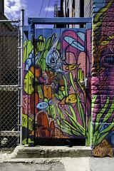 The fish gate (aerojad) Tags: eos canon 80d dslr 2017 city urban art artinpublicplaces streetart publicart mural murals graffiti vacation travel wanderlust graffitialley toronto canada vibrant colorful