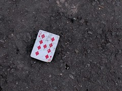 [230] Nine of diamonds (rbrwr) Tags: card nne diamonds nineofdiamonds ground