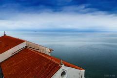 Il mare sopra i tetti (Silver_63) Tags: mare tetto slovenia piran acqua