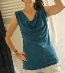 Pattydoo top Scarlett (Two_tango) Tags: nähen sewing crafting garments tops summer cowlneck wasserfallausschnitt pattydoo viskosejersey petrol teal