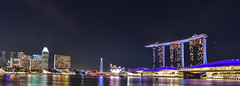 Marina Bay Sands and the ArtScience Museum in Singapore (Merrillie) Tags: night resort artsciencemuseum water city cityscape nighttime lights panoramic travel panorama asia marinabaysands singapore waterscape nightscape skyline touristattraction architecture happyplanet asiafavorites