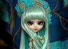 Pullip Alura in turquoise (Virvatulia) Tags: pullip alura laura seila pullipalura rewigged turquoise blue green wig rechipped custom customized doll portrait