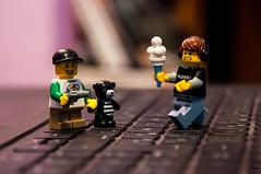 Racketeering (Yoann!) Tags: afol lego legography fun funny toy toys minifigs minifigurine minifigures minifigure minifigurines minifig mfs ice cream glace boy nikon