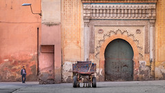 P24/24 (Jean-Luc Peluchon) Tags: lumix color scene horse door architecture fz1000 tag vehicle cart carriage africa morocco man driver