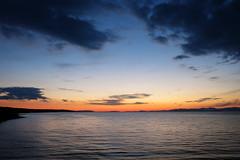 Blue with pinch of orange (LukaBoban) Tags: blue orange sky sea cloud waves calm sunset maritime brac supetar croatia end canon powershot g15