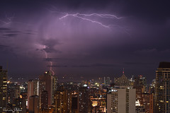 Love lightning photography (Sumarie Slabber) Tags: city night nightscape lightning storm weather epic building clouds stormy manila makaticity philippines bolts