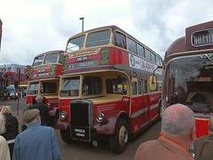 Ilkeston Market Place - Bartons Buses, Historic vehicle rally. 14 08 2016 (pnb511) Tags: barton 507 jvo 230 1948 leyland pd1a duple lowbridge 580 knn 254 1949 titanduple 966 rvo 1963 bedford valeuropa body ilkeston