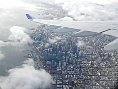 aerial view of San Francisco (kenjet) Tags: inflight aerialview sanfrancisco californina city wing windowview windowseat aerial view ha hawaiian hawaiianairlines airbus a330 n390ha a330243 namahoe winglet airline airliner jet flugzeug aviation