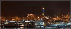 Genova Arbour (Vietto) Tags: genova genoa liguria italia italy nottura nightshot night tripod cavalletto lungaesposizione longexposure sony slt a77 light porto arbour