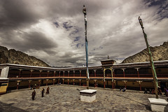 Hemis Monastery - Ladakh, India (Kartik Kumar S) Tags: hemis monastery is tibetan buddhist drupka lineage located ladakh the annual festival honouring padmasambhava held here early june massive architectural structure very unique represents distinct style architecture from other important monasteries leh kashmir mountains clouds desert trees tokina 1116mm canon 600d