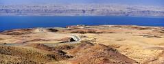 Road to Dead Sea & Jordan Valley. (hanna_astephan) Tags: jordan jordania jordanien jordanvalley deadsea desert landscape jerusalemheights nikond3000 icestitch roads