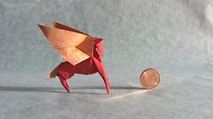 Pegasus (T. Hojyo) (Helyades) Tags: hojyo origami papier paper carré pégase pegasus animal square tissue soie fold pli pliage