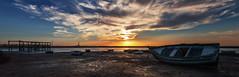 Esperanza Cuarta (Rio San Pedro) (protsalke) Tags: sunset beach colors sun sky clouds colores bahiacadiz cadiz andalucia nikon seascape light waterscape paisaje marina panorama panoramic atardecer nubes sol oceano agua riosanpedro