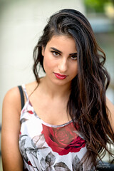 Sultry (oshcan) Tags: model beautiful portrait dark woman girl persian nikon d4s 85mm14