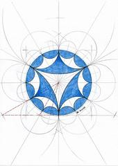 20170502_0003 (regolo54) Tags: hyperbolic geometry symmetry pattern handmade circle disk triangle escher mathart regolo54
