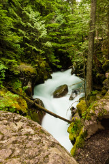 Just Might (clarkschiring) Tags: long exposure waterfall glacier national park avalanche lake water