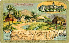 India Railways - Bombay-Calcutta Railway (Chocolat Klaus collector's card) (HISTORICAL RAILWAY IMAGES) Tags: india railways bombay calcutta train chocolatklaus