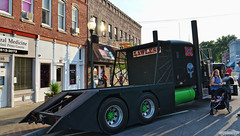 Lawless (Chad Horwedel) Tags: lawless semi truck custom ratrod black morriscruisenight morris illinois