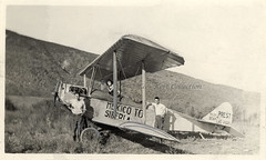 The Prest-Bach biplane 'Polar Bear' specially constructed for the flight from Mexico to Siberia [USA, 1921] (Kees Kort Collection) Tags: 1921 bach biplane ox5 prest siberia polarbear mexico