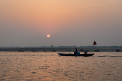 River Ganges (Andrew G Robertson) Tags: ganges varanasi sunrise boat india river sacred hindu dawn sunset canon5dmkiv mk4 mkiv 5d canon fishing pradesh utter uttar benares ganga