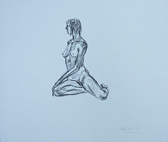 Life Drawing - 24 June 2017 - 3 (Matthew Felix Sun) Tags: mydrawing drwaing matthewfelixsun matthewsun wwwmatthewfelixsuncom matthewfelixsuncom oiloncanvas painting 14inx17in 2017 figure nude lifedrawing charcoal charcoalonpaper 人體 裸體 人體寫生 木炭 木炭畫 körper nackt lebenszeichnung holzkohle holzkohleaufpapier haillie