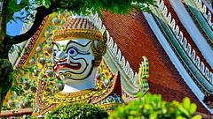 Thai Yaksha Guard (gerard eder) Tags: world travel reise viajes asia southeastasia thailand bangkok tropical temple templos tempel wat watarun yakshas city ciudades cityscape cityview städte stadtlandschaft outdoor