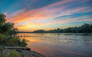 river Drava (03) - sunset