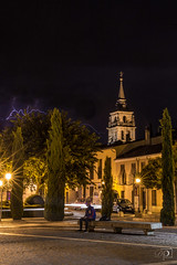 Lightning in the Cathedral (DinoPozo) Tags: alcaladehenares longexposure madrid thunderstrom tormenta comunidaddemadrid españa canon6d canon canonshot picoftheday nightshot nightscape enjoyingnight lovesspain lightning