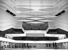 The (still) empty stage (rainerralph) Tags: schwarzweiss architektur bühne konzerthaus concerthouse objektiv1240pro omdem1markii germany architecture dresden deutschland blackandwhite stage indoor