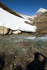 Shadow, Stream and Snow (Perspectix) Tags: schweiz wate wideangletrielmar albulapass leicam typ240