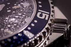 Longines HydroConquest Watch ⌚️ Macro with water 💦 (Re_Ne) Tags: kenko 5ds canon 100mm splash drops drop water closeup macro watch conquest hydroconquest longines