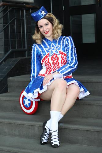 Captain America (Irish Step-Dance costume)