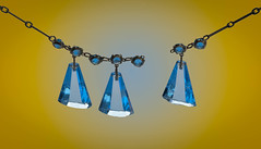 MM - Broken (Julian Chilvers) Tags: broken macromondays macro necklace blue yellow chain jewellery