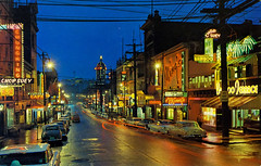 Chinatown at Night, Vancouver, B.C. (Thomas Hawk) Tags: bambooterrace canada chinatown chinesefood chungkingchopsuey mings pendercafe vancouver vintage auto automobile car chineserestaurant neon neonsign night postcard restaurant fav10 fav25 fav50 fav100