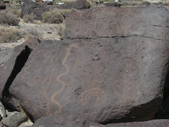 Petroglyph at Grimes Pt petroglyph area in Nevada-04 6-29-13 (lamsongf) Tags: rockart petroglyph nativeamerican americanindian nevada grimespoint