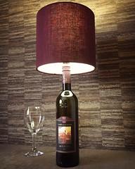 Banfi Wine Bottle with Burgundy Shade (Wattbottles) Tags: banfi wine bottle lamp burgundy etsy upcycled upcycle crafts handmade