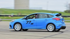 Shocking blue blur... (R.A. Killmer) Tags: focus rs horsepower race racer racing autocross auto fast ford blue white wheels cone slide quick turbo scca