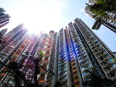 Warm you gently. (ThisisMandyC) Tags: sunshine publichousing hongkong tsingyi cheungonestate canonpowershotg11