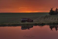 Truck Reflection (NikonDigifan) Tags: sunset palouse palousehills reflection idaho truck farming agriculture wheat pond vibrant niksoftware colorefexpro nikond750 nikon28300 pacificnorthwest mikegassphotography