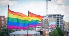 2017.07.02 Rainbow and US Flags Flying Washington, DC USA 6851