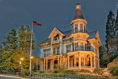 FLAVEL HOUSE in ASTORIA OREGON (LOURENḉO Photography) Tags: goonies astoria oregon coat coast flaval house museum art night stars famous movie downtown vintage old historic site beautiful victorian queen ann queenann block city columbia river color sky architecture flavel