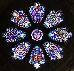 St David's Cathedral Stained Glass 1 (ahisgett) Tags: wales stdavids davids cathedral