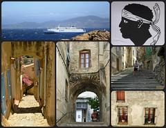 Corse    ( 28 Juin 2007) (France-♥) Tags: corse corsica drapeau flag bateau traversier ferry ruelle steps escaliers fenêtre window architecture france travel memories