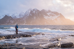 Lofoten Cody (Geoff_F) Tags: codyduncan tour winter norway lofoten sea mountain waves photographer landscape fujifilm ambleaboutoz